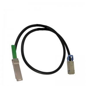 670759-B22 HP 1M FDR Quad Small Form Factor Pluggable InfiniBand Copper Cable
