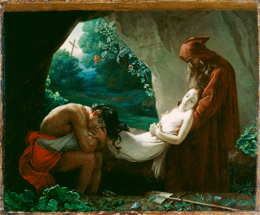 After Anne-Louis Girodet de Roucy-Trioson (French, 1767 - 1824) Burial of Atala, after 1808, Oil on canvas Unframed: 50.5 x 61.9 cm (19 7/8 x 24 3/8 in.) Framed: 75.6 x 87.6 x 10.2 cm (29 3/4 x 34 1/2 x 4 in.) The J. Paul Getty Museum, Los Angeles